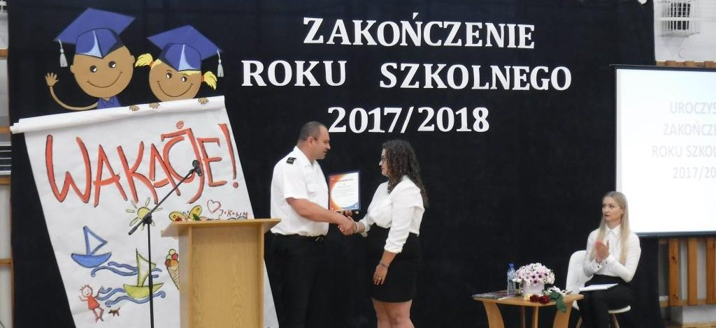 Laureatka konkursu kalendarzowego PSP 2018 z powiatu bialskiego